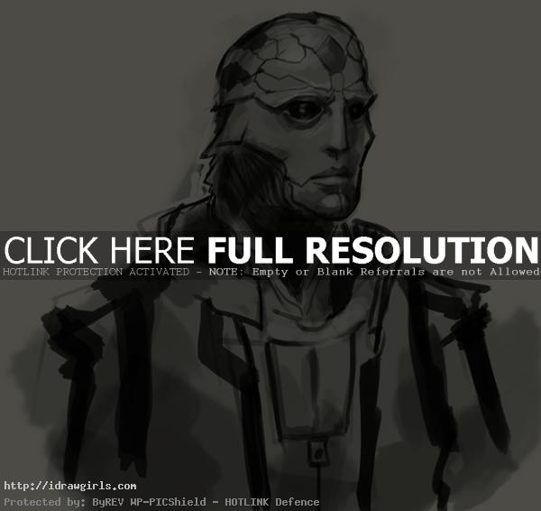 How to draw Thane Mass Effect