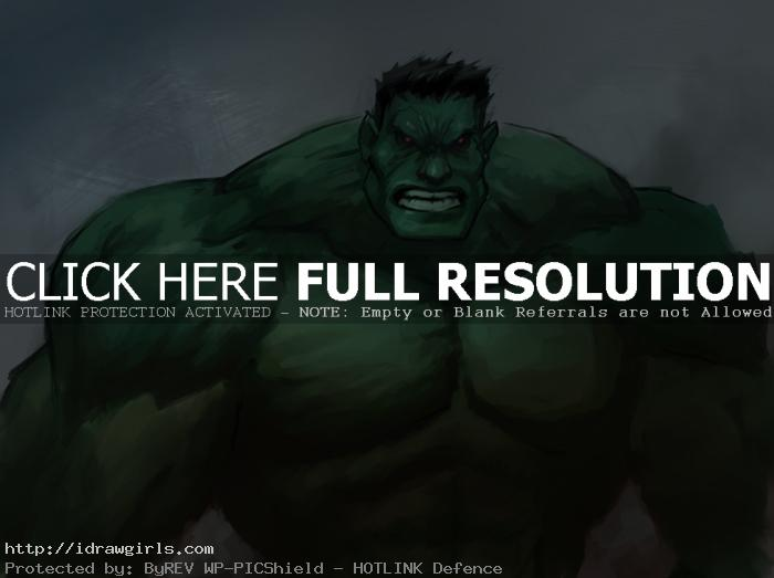the hulk Digital painting tutorial Hulk