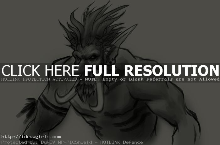 Troll drawing