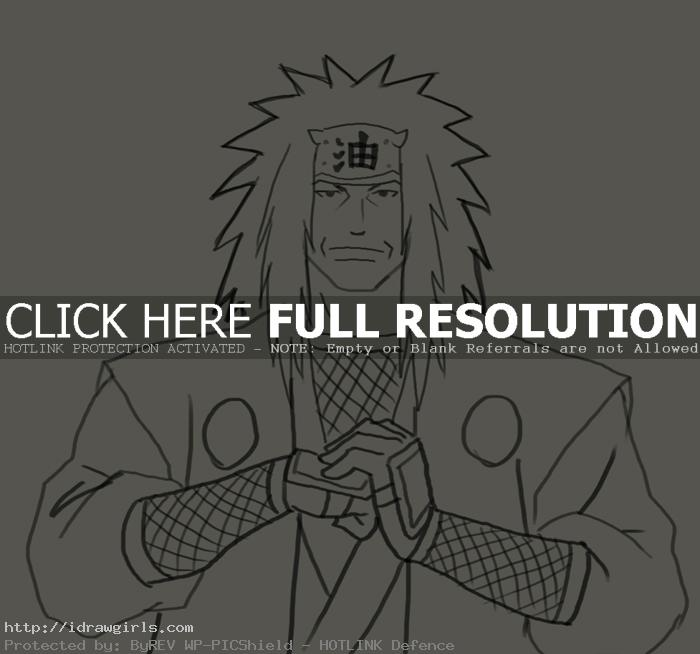 Jiraiya How to draw Jiraiya