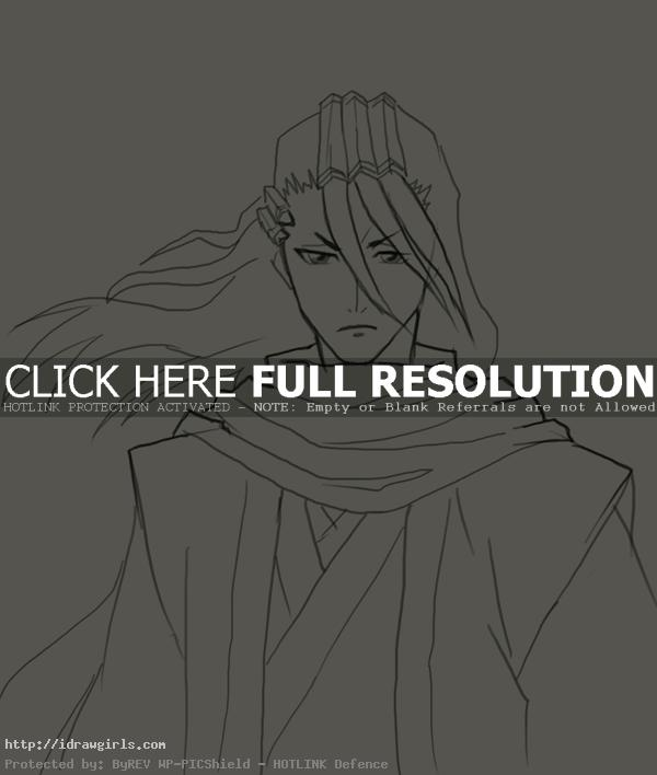 How to draw Byakuya Kuchiki