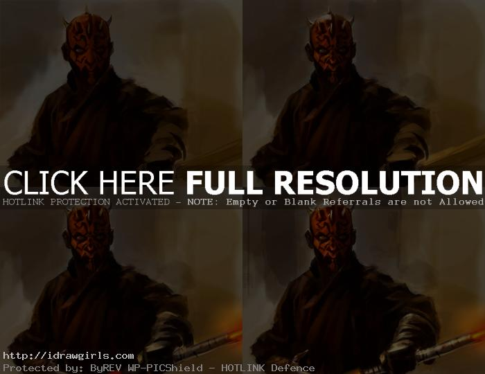 digital painting tutorial Darth Maul step2