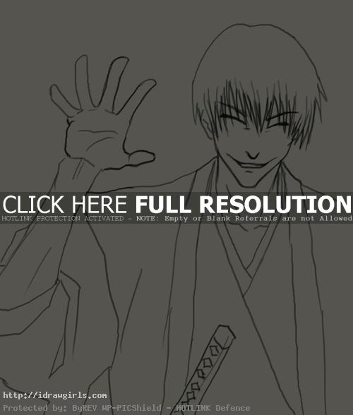 How to draw Gin Ichimaru