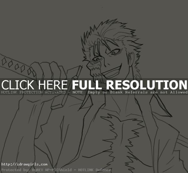 How to draw Grimmjow Jaegerjaquez