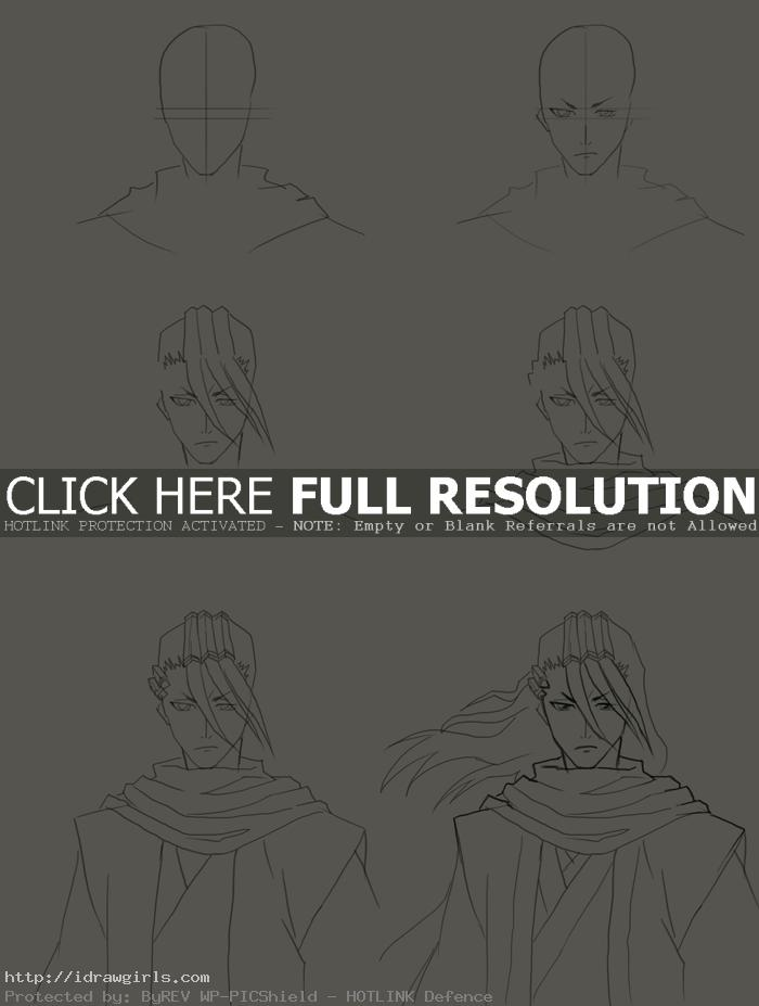 how to draw byakuya kuchiki How to draw Byakuya Kuchiki