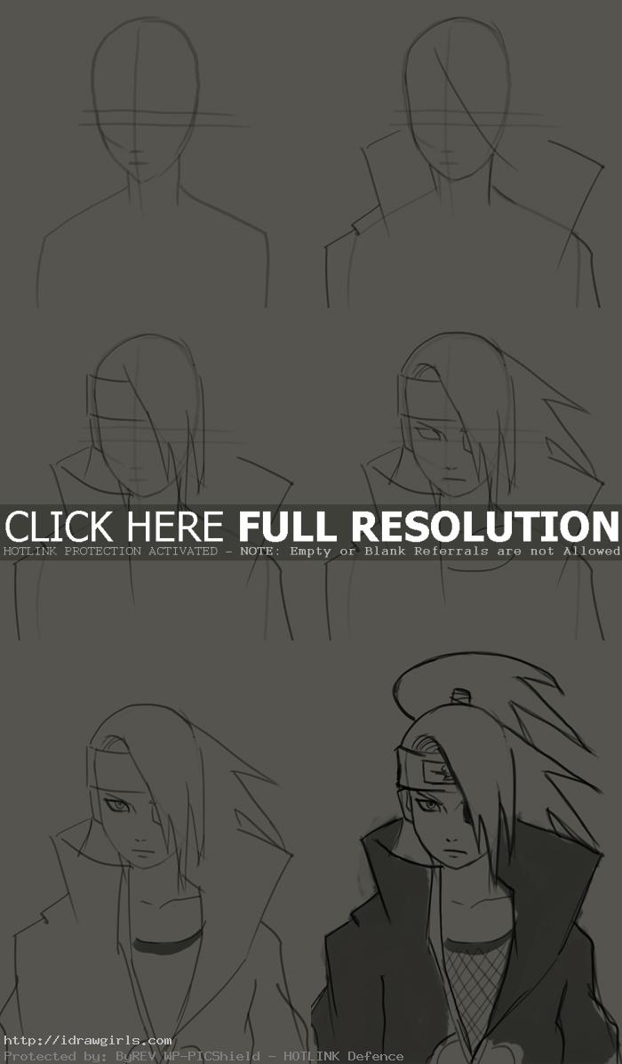 how to draw deidara How to draw Deidara