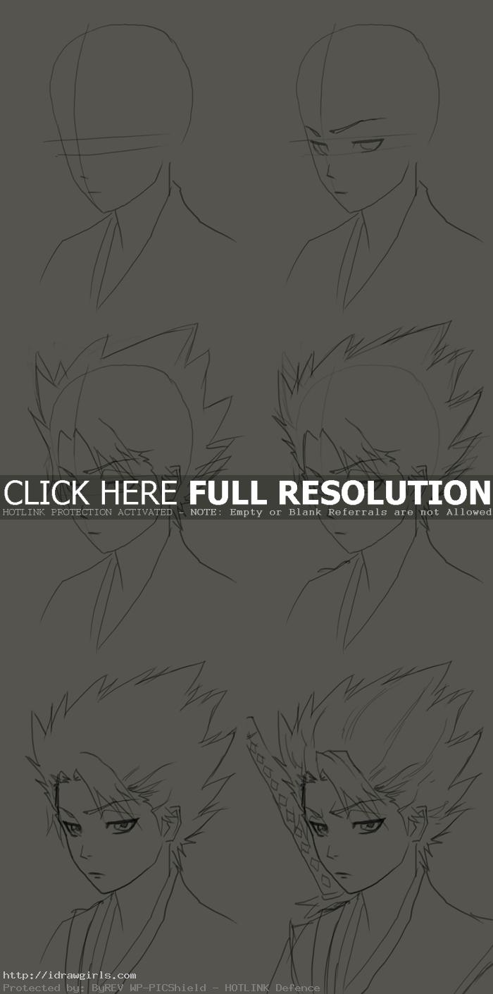 how to draw Hitsugaya Toushiro