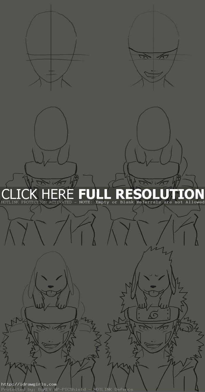 how to draw inuzuka kiba How to draw Inuzuka Kiba