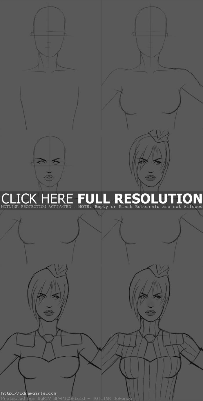 how to draw juni street fighter How to draw Juni