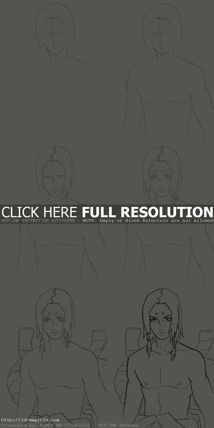 How to draw Kaguya Kimimaro