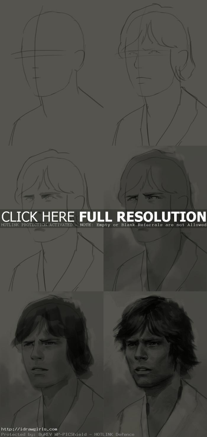 how to draw luke skywalker How to draw Luke Skywalker