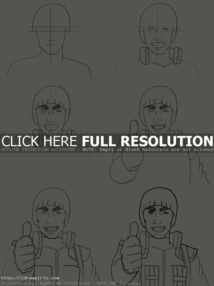 how to draw maito gai How to draw Maito Gai