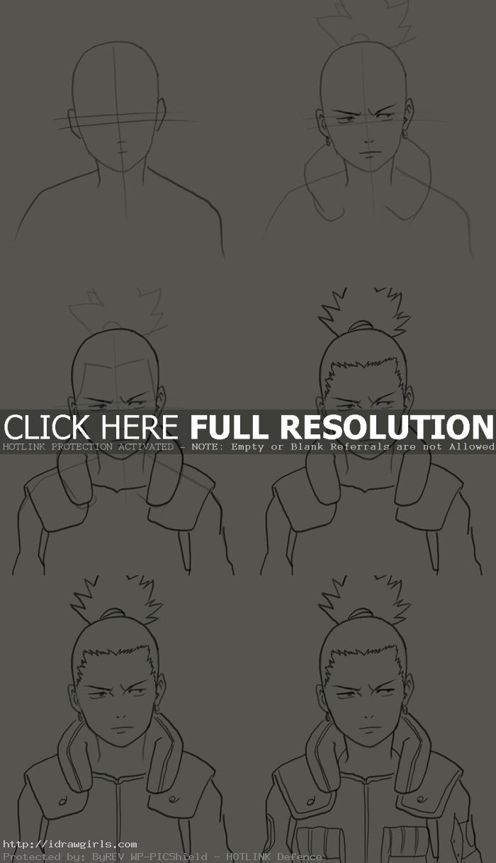 how to draw Nara Shikamaru