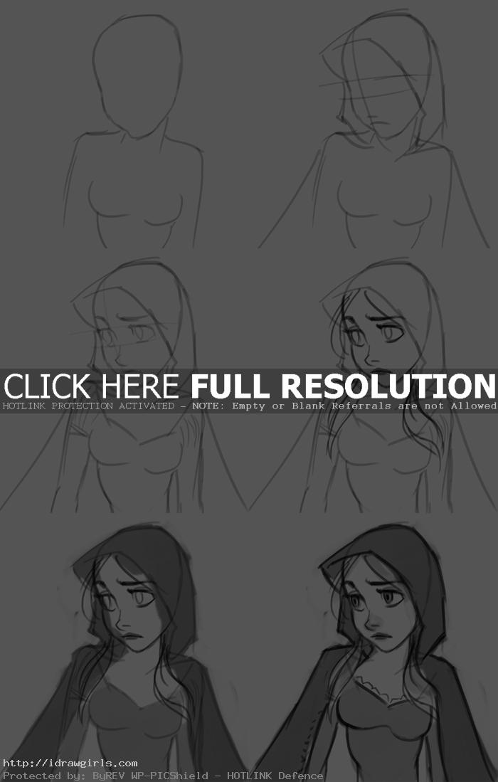 how to draw red riding hood How to draw Red Riding Hood