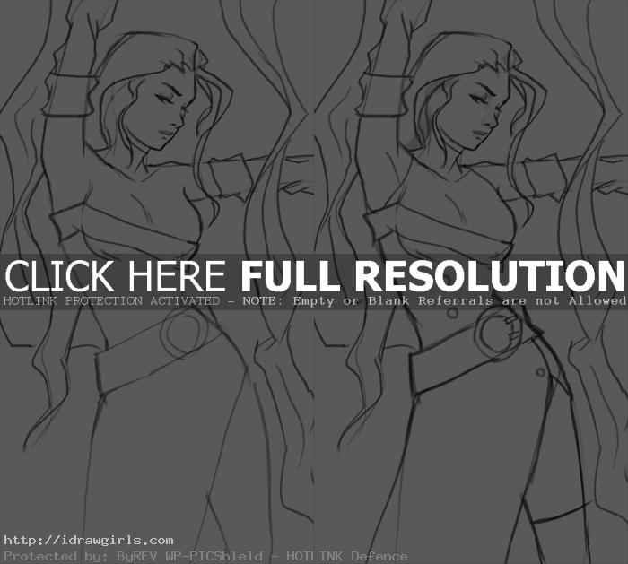 how to draw Rose from Street Fighter part 2