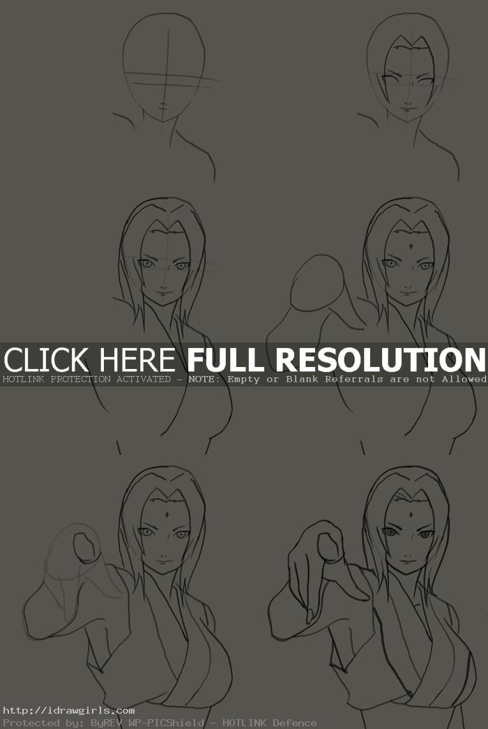 how to draw tsunade hokage How to draw Tsunade Hokage