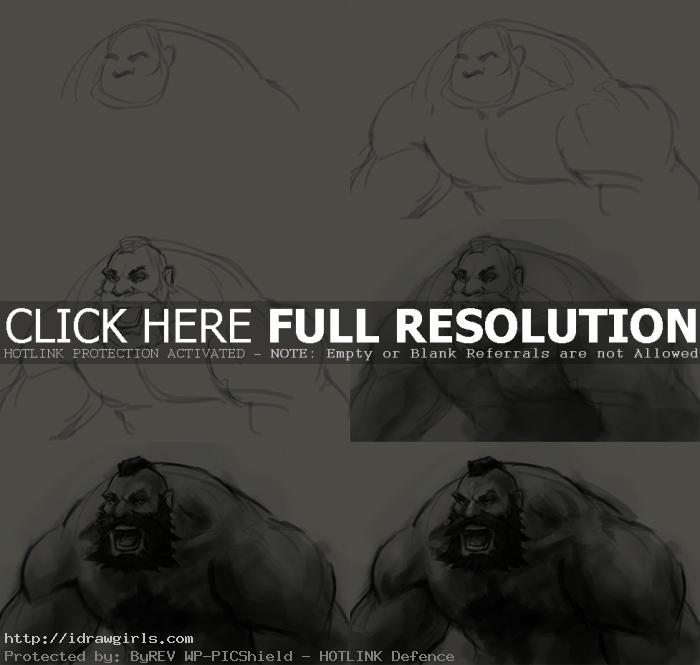 how to draw zangief How to draw Zangief