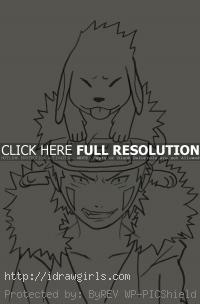 drawing Inuzuka Kiba