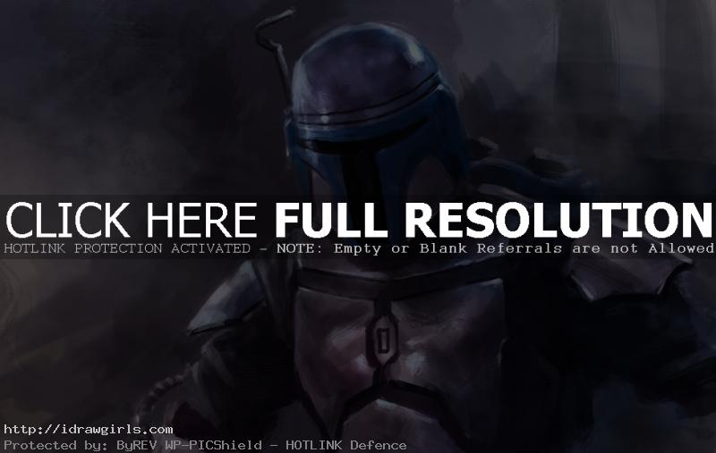 jengo fett Digital painting tutorial Jango Fett