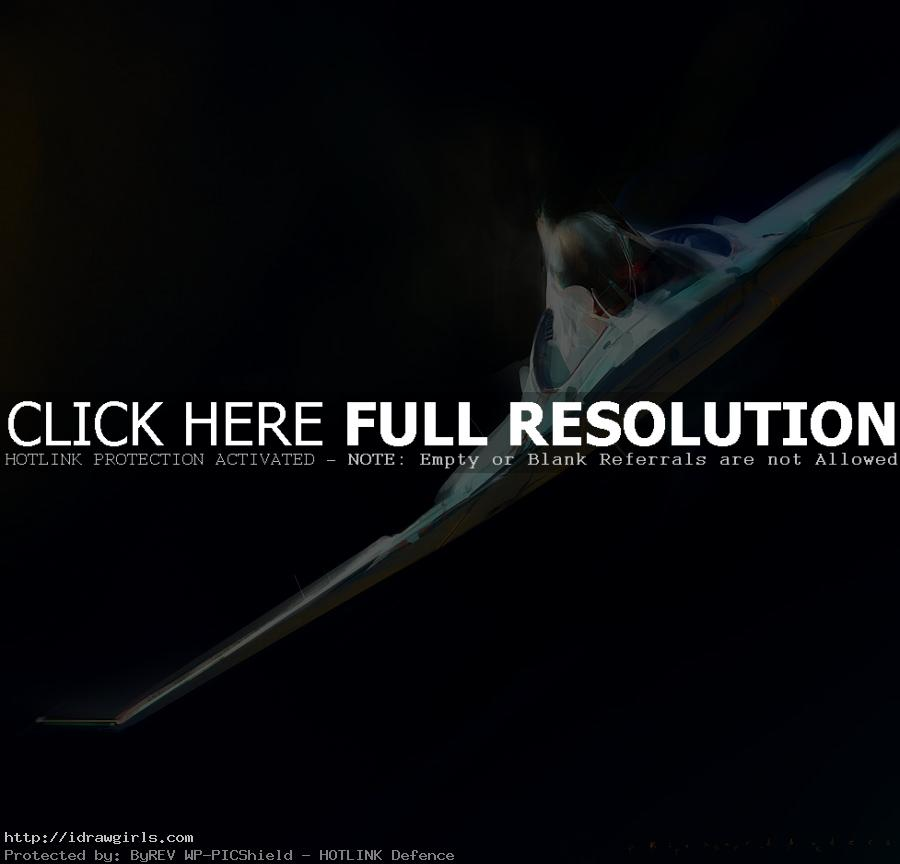 Jet digital painting