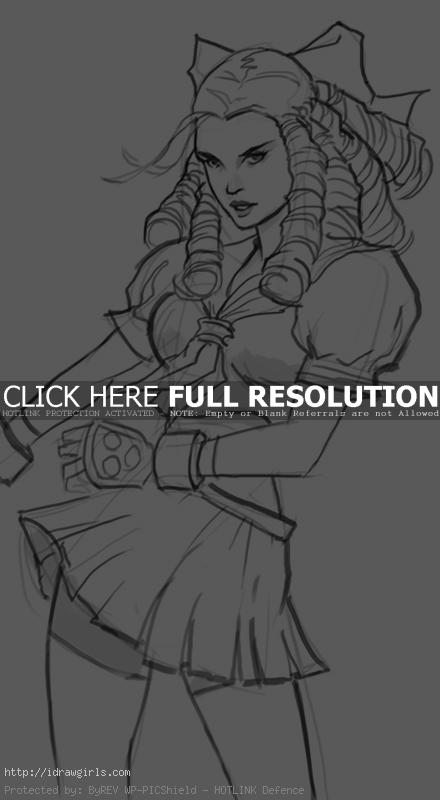karin street fighter How to draw Karin