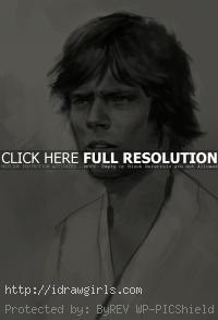 Luke Skywalker drawing