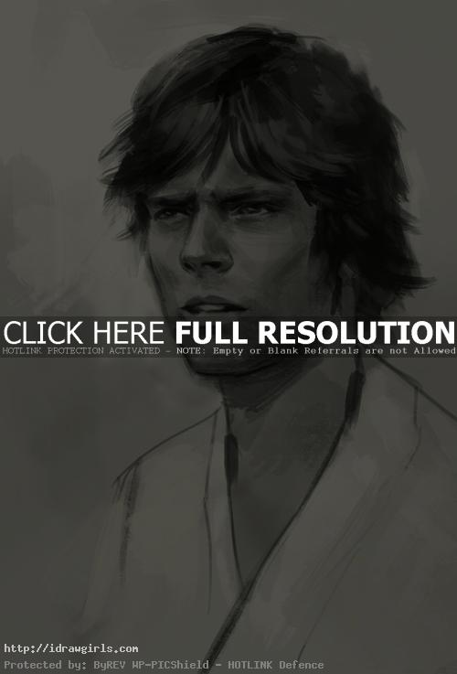 How to draw Luke Skywalker
