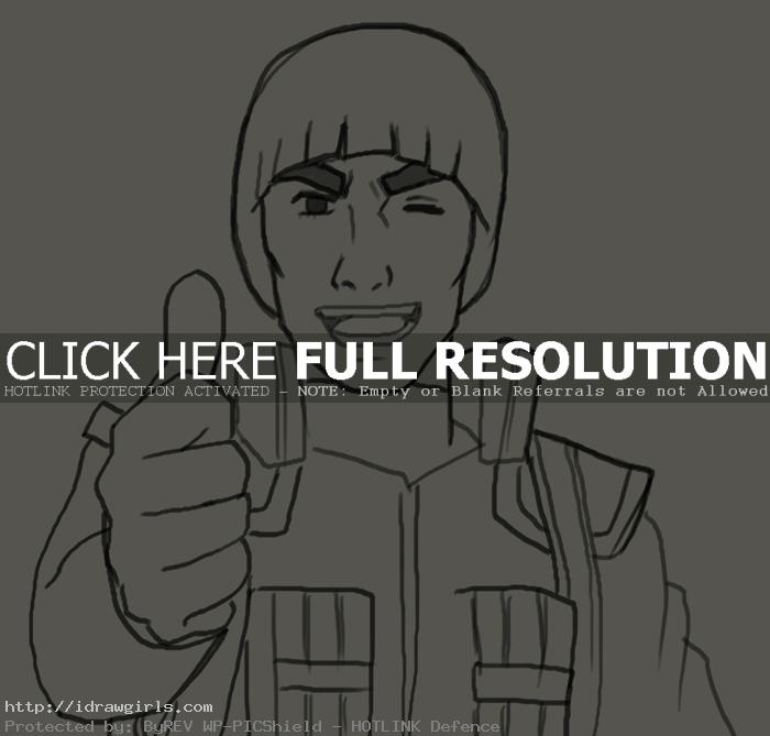 How to draw Maito Gai