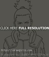 drawing Nara Shikamaru