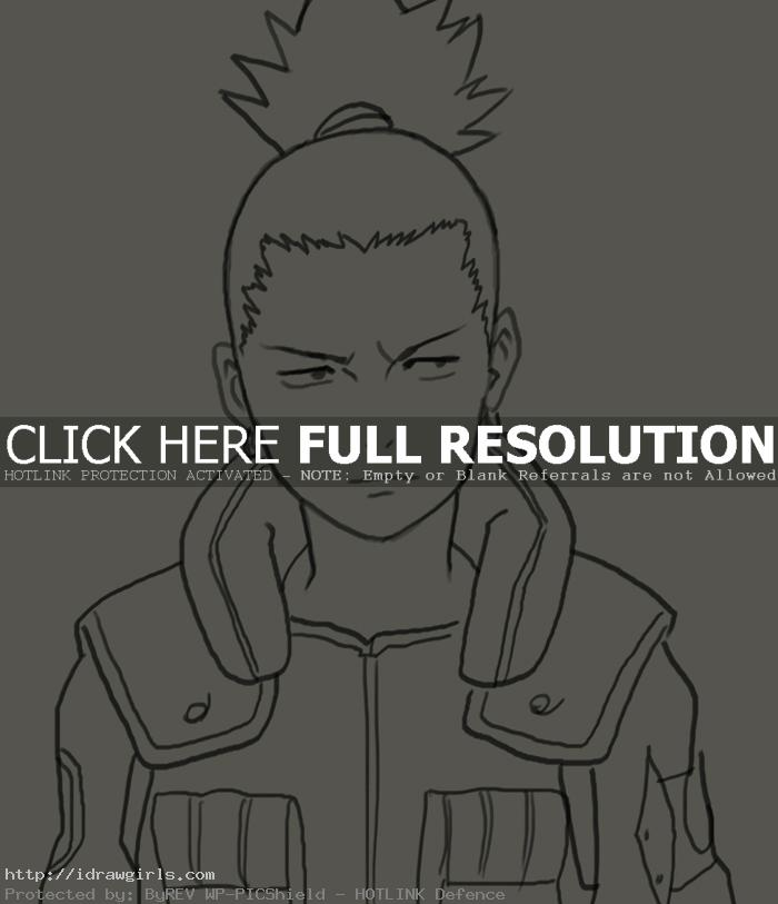nara shikamaru How to draw Nara Shikamaru