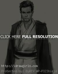 young Obi-Wan Kenobi drawing