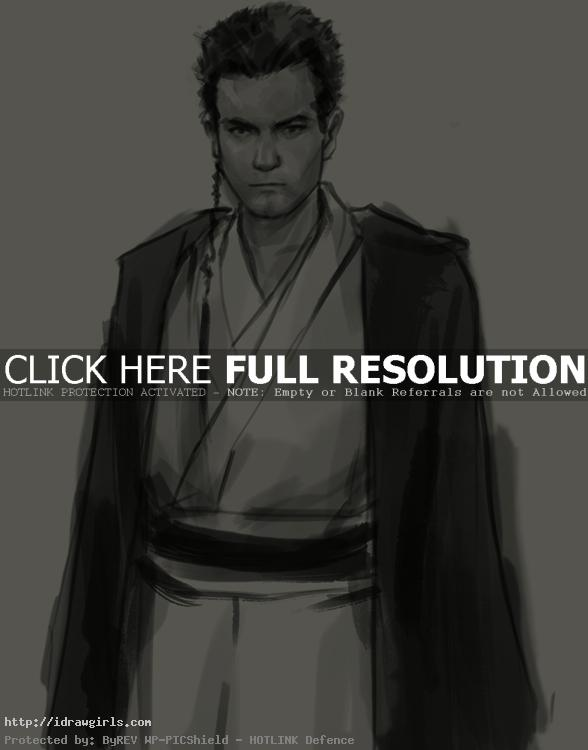 obi wan kenobi drawing How to draw Obi Wan Kenobi