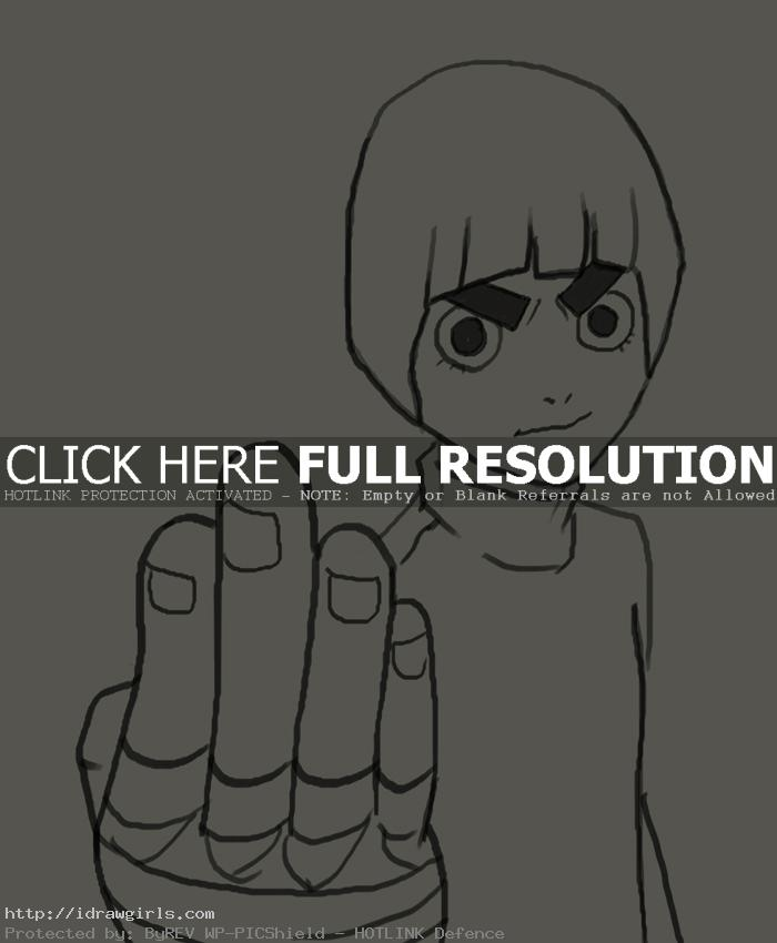 drawing Rock Lee