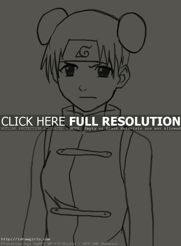 How to draw Tenten