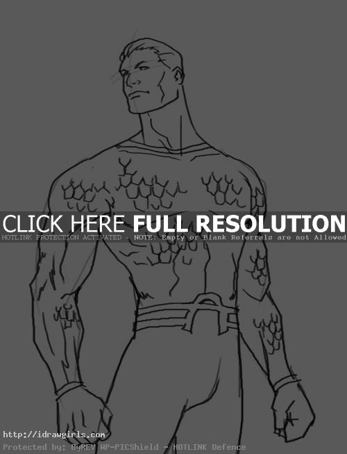 aquaman How to draw Aquaman