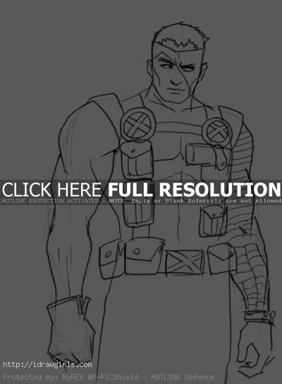Cable drawing X-men