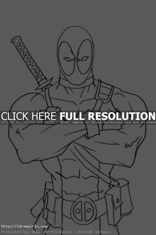 deadpool How to draw Deadpool