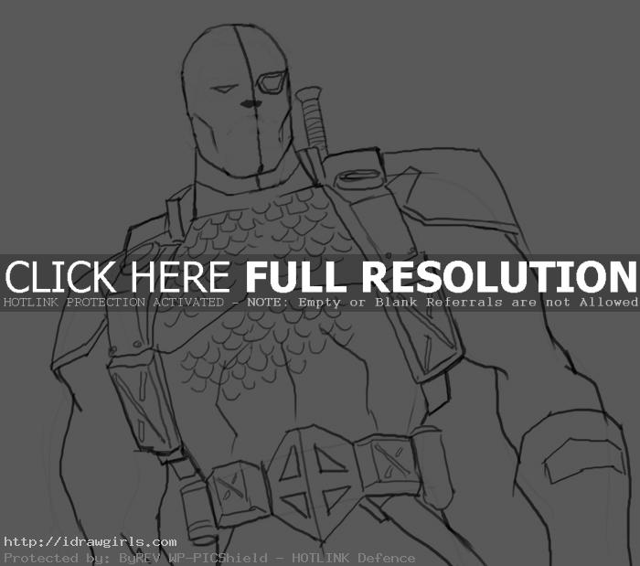 deathstroke masked How to draw DeathStroke