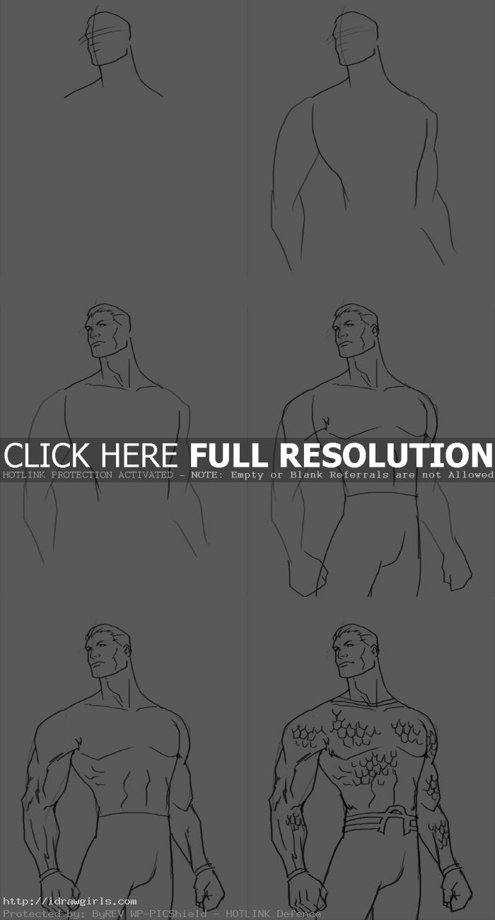how to draw Aquaman