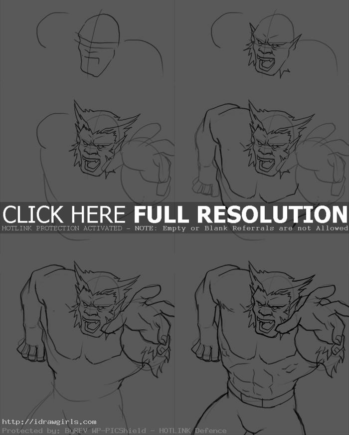how to draw beast How to draw Beast