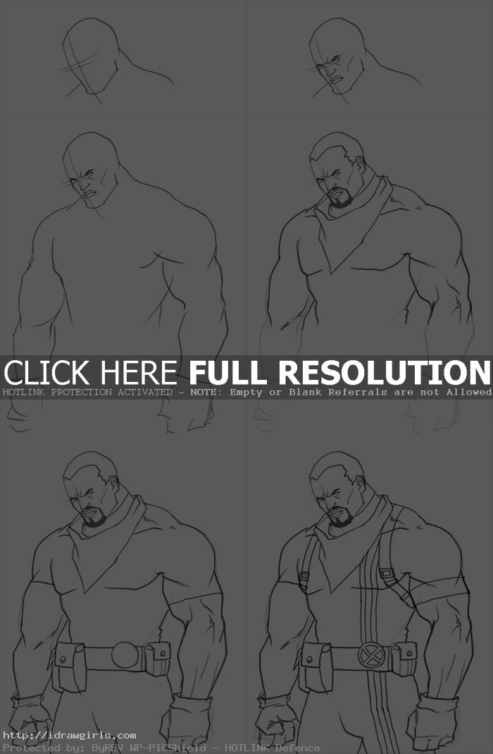 How to draw Lucas Bishop