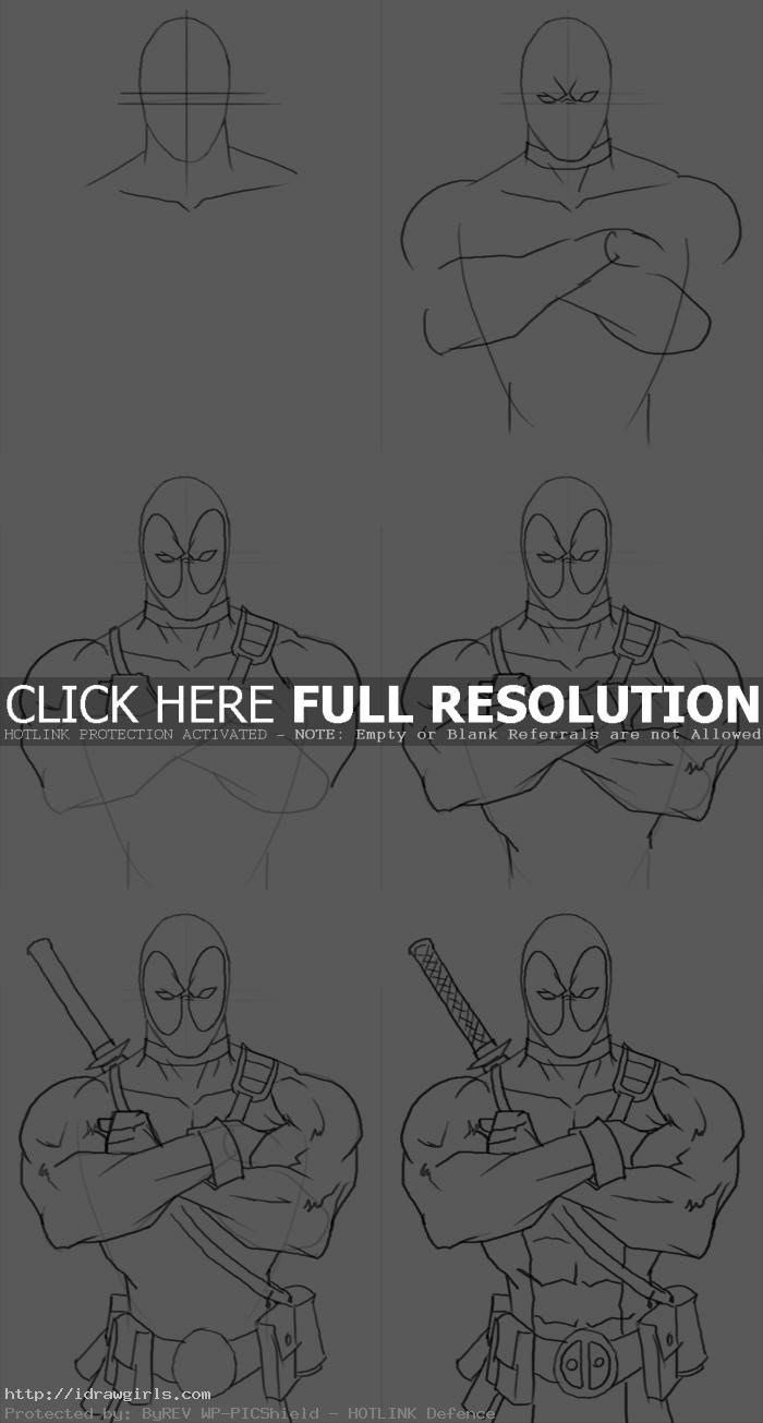 how to draw deadpool How to draw Deadpool