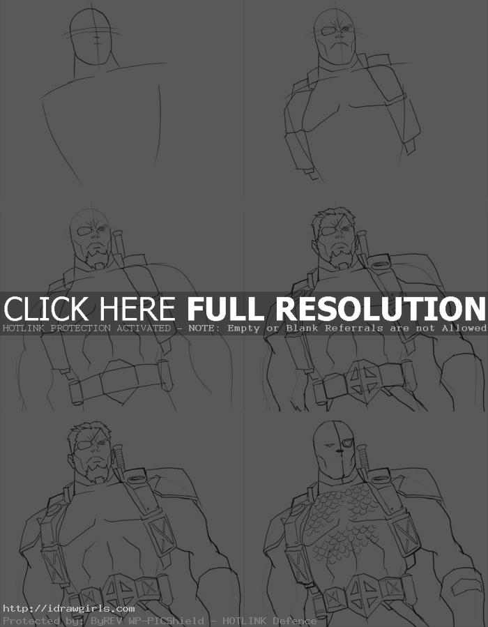 how to draw deathstroke How to draw DeathStroke