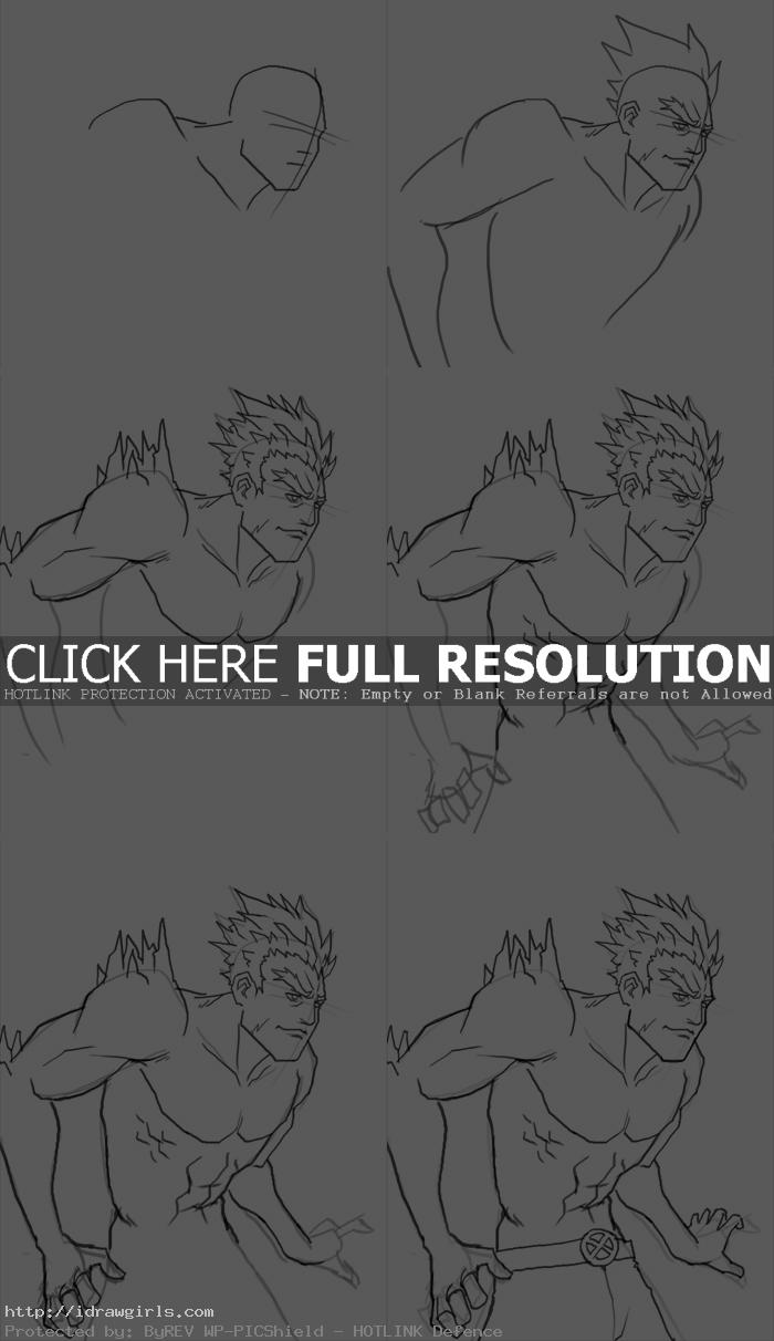 how to draw iceman How to draw Iceman