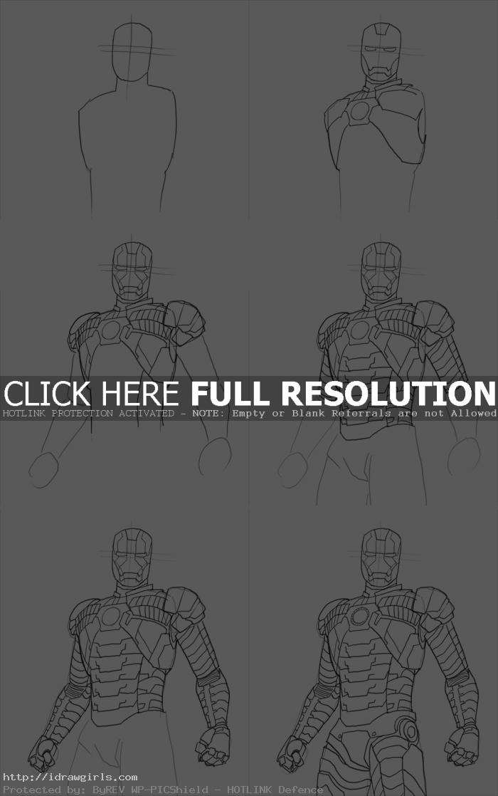 how to draw iron man mark05 How to draw Iron Man Mk 5