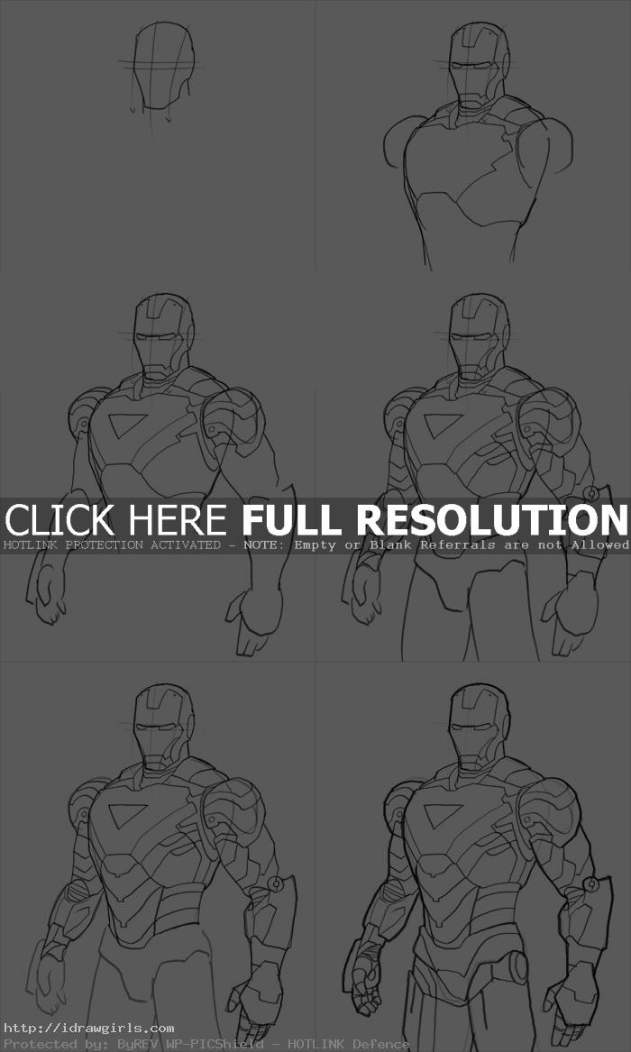 how to draw iron man mark06 How to draw Iron Man