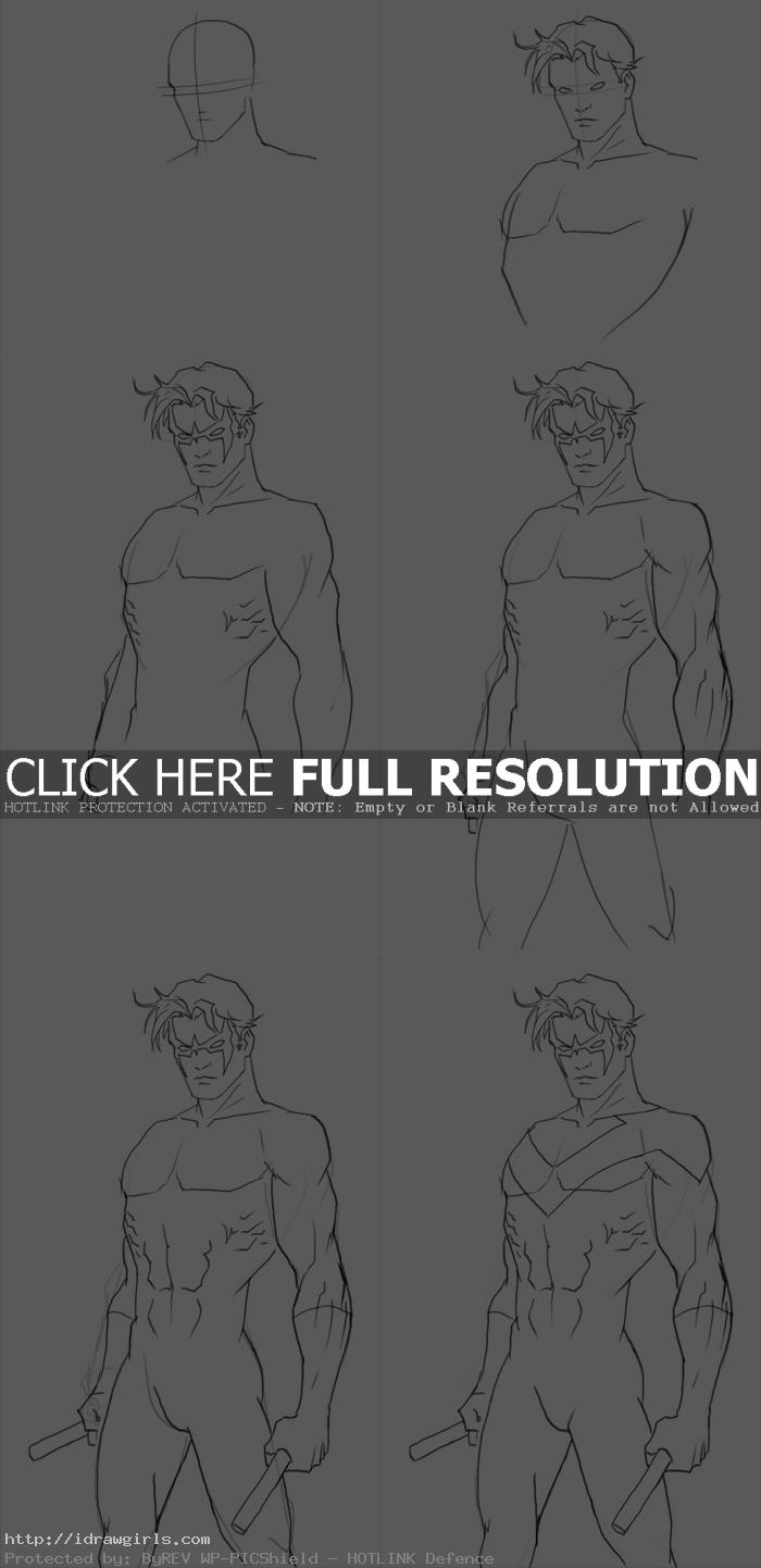 how to draw nightwing How to draw Nightwing