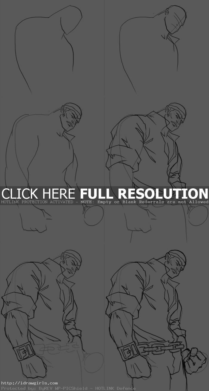 how to draw Power Man