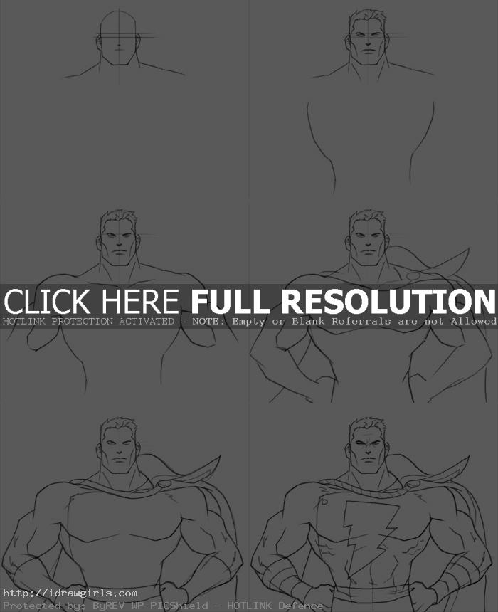 how to draw shazam How to draw Captain Marvel