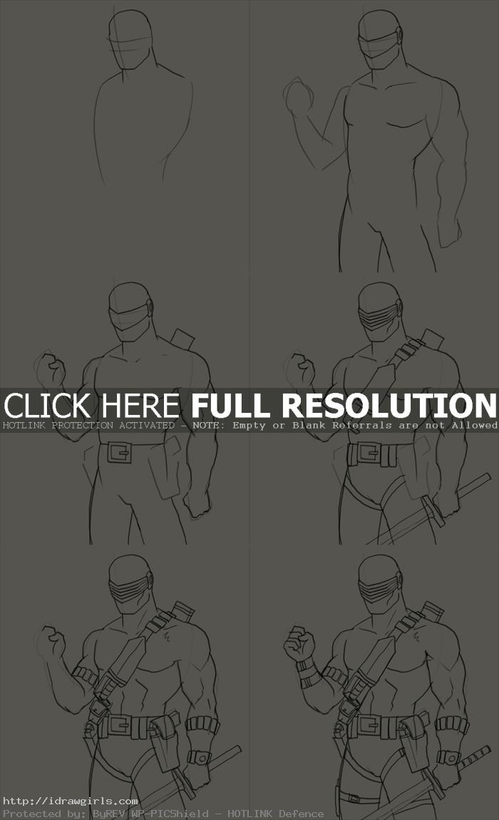 how to draw snake eyes How to draw Snake Eyes